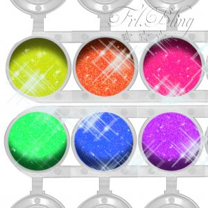 Glitzer Set NEON UV, UV Party, Blacklight. neonlicht, Neon, frl. Bling, fräulein bling, sparset, sparpreis