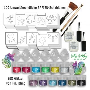 BIO Glitzertattoo Set M