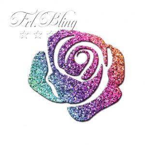 Glitzer Tattoo Schablonen ROSE, Blume, Garten,Rosen, Blumen,
