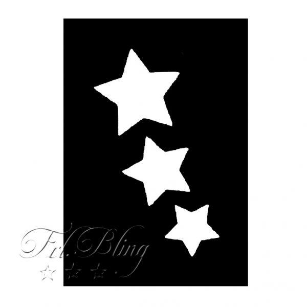 GlitterTattoo Schablonen STERNCHEN, Sterne, Galaxy, Stern