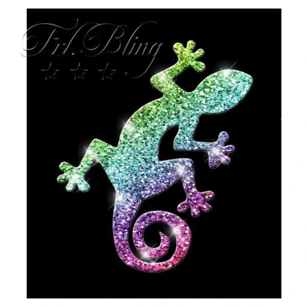 Glitzer Tattoo Schablonen EIDECHSE, Gekko, Salamander,