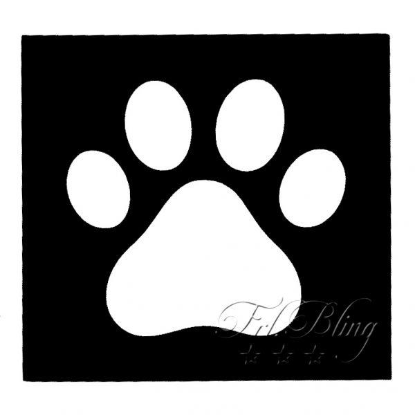 Glitzertattoo MINI Schablonen PFOTE TATZE klein ,Schablonen TATZE / PFOTE, Wolf, Hund, wild, Löwe, Tiger