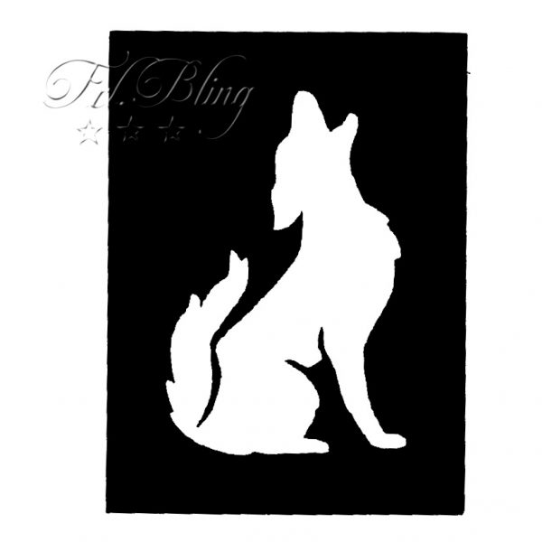Glitzer Tattoo Schablonen WOLF, Hund, Fuchs, glitzertattoo, glitter, tatoo