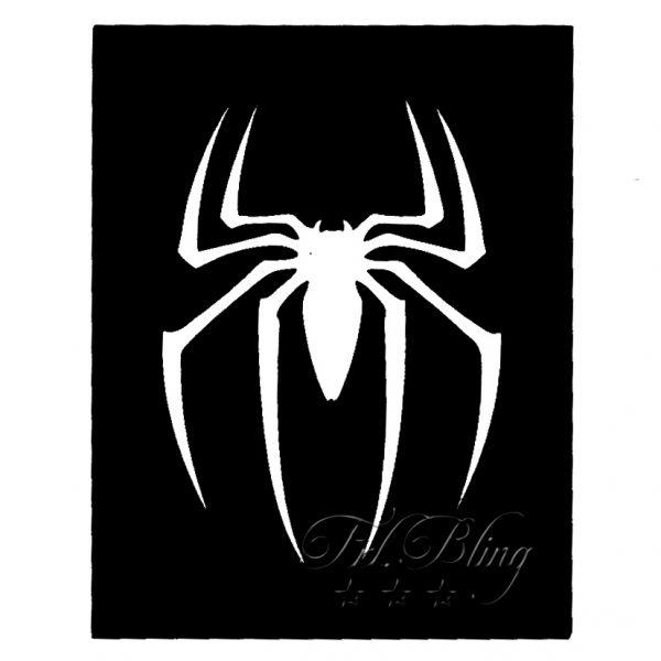 Glitzertattoo Schablonen SPINNE, spider, spiderman, tatoo, glitter