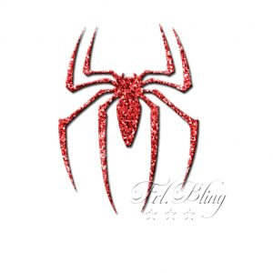 Glitzertattoo Schablonen SPINNE, spider, spiderman, tatoo, glitter