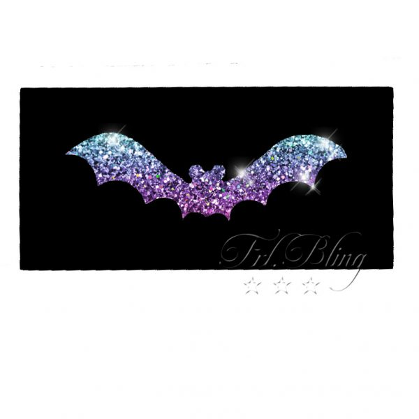 Glittertattoo Schablonen FLEDERMAUS, glitzer tattoo, tatoo