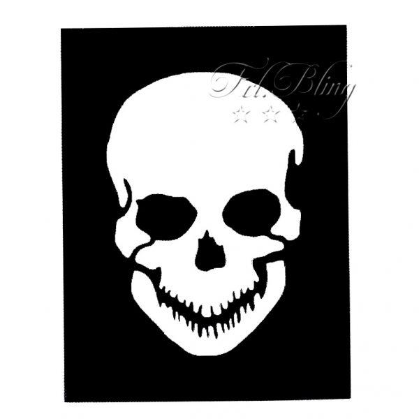 Glitzer - Tattoo Schablonen TOTENKOPF, Pirat, seeräuber