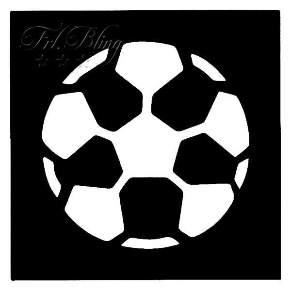 Glitzertattoo MINI Schablonen FUSSBALL klein,Glitzer tattoo Kicker, Fussballer, Fan, Football, FUßBALL