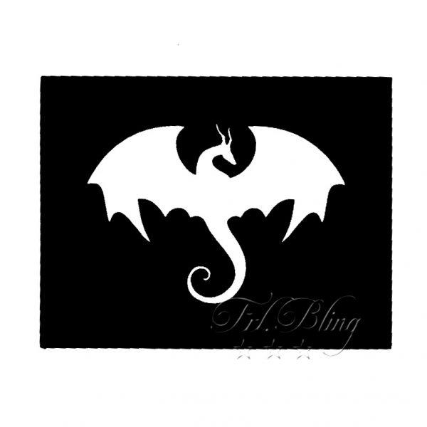 Glitzer-Tattoo Schablonen kleiner Drache