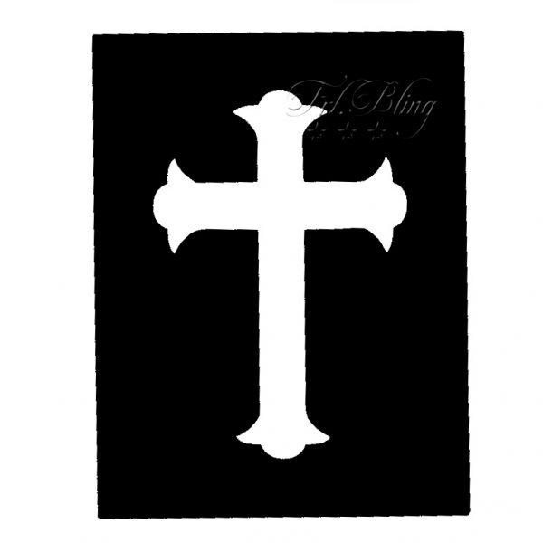 Glitzertattoo Schablonen KREUZ, Konfirmation, Kommunion, Kirche, Glauben, glitzer. tattoo