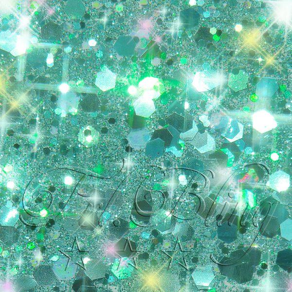 CHUNKY Glitter TÜRKIS HOLO, glitter, glitzer Festival, Party, Einhorn, Prinzessin, Kinderschminken, kosmetischer Glitzer,