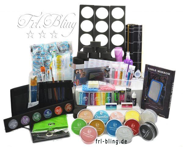 Kinderschminken Grundausrüstung M, Grundaussattung, starter set,facepainting, profi, kinderschmiken, farben gesicht, kindergarten