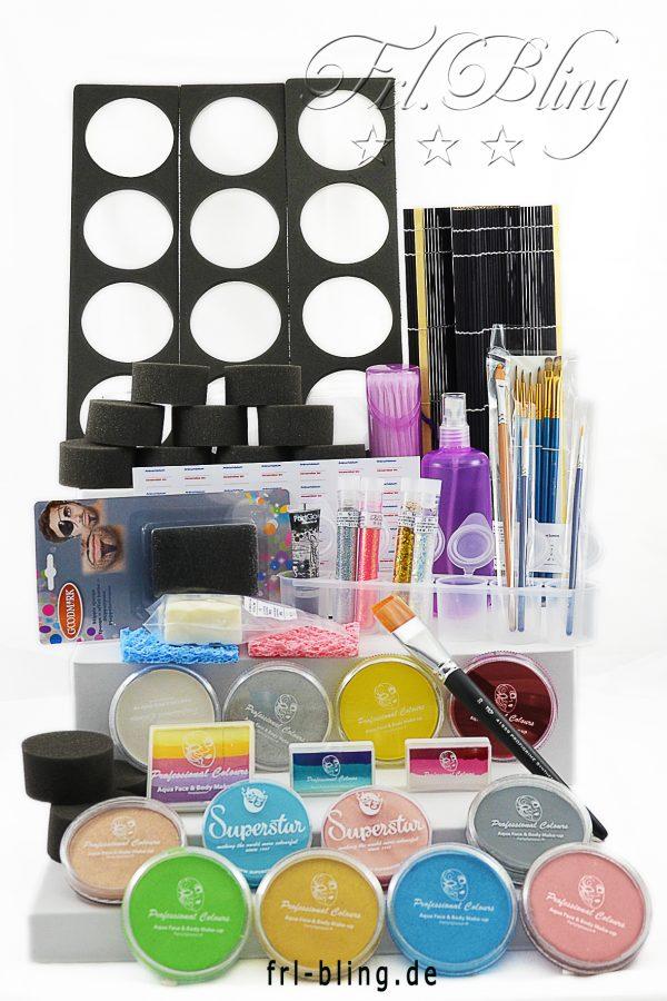 Kinderschminken Grundausrüstung S, Starter set KInderschminken, Grundausstattung kinderschminken, KIndergarten, Kindergeburtstag, kosmetisch,