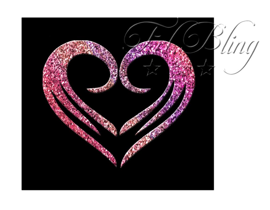 Glitzer Tattoo Schablonen HERZ cool - ♥♥♥- Riesen Auswahl