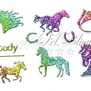 Ybody Schablonen Set PFERDE, Pferd, Pony, Ponyhof, reiten, Einhorn,