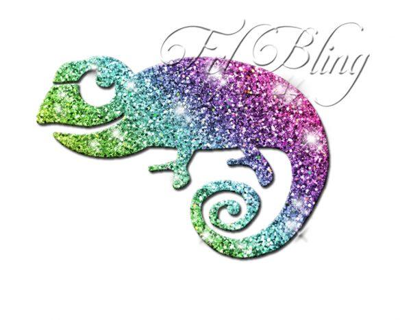 Glitzer Tattoo Schablonen CHAMÄLEON,cameleon,eidechse,gekko,zauber, glitter tatoo,tatoo, echse, kameleon