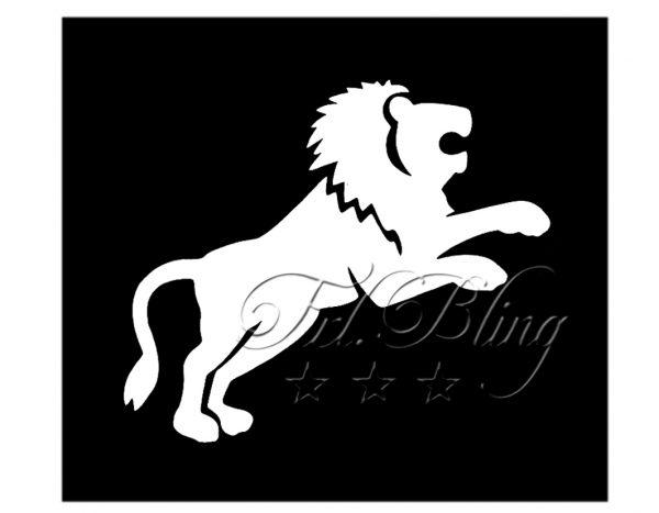 Glitzer Tattoo Schablonen LÖWE, löwen, wild, zoo, tiger, stark. zoo. zirkus