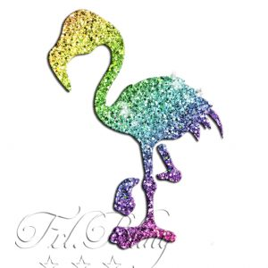 Glitzer Tattoo Schablonen FLAMINGO