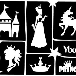 Ybody Schablonen Set PRINCESS
