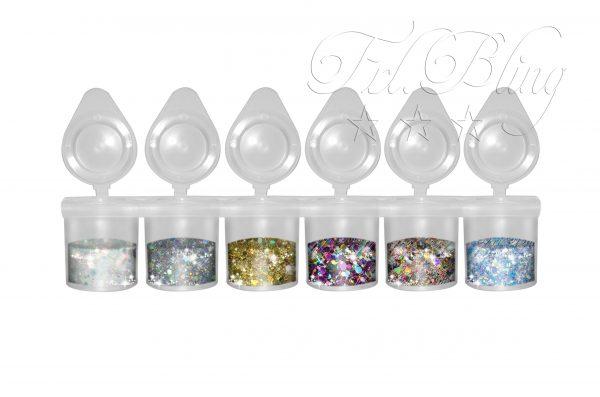 Hochwertiges Glitzer Set - Sparpreis - riesen Auswahl - kosmetisch- BIO - Kinderschminken- Bodypainting - Festival - glitter- CHUNKY - Glitzer Set CHUNKY