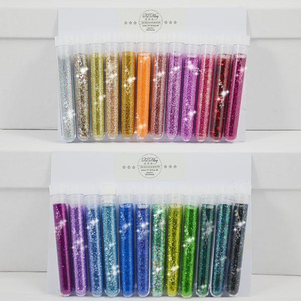 Regenbogen 24 x GLITZER / EINHORN PARTY, Adventskalender, Geschenk glitzer, Geschenkidee, glitter sammeln. wichtel, einhorn, regenbogen, jungesellinnenabschied, hochzeit, schenken glitzer