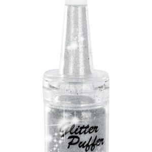 Glitzer PUFFER SILBER 5 ml / Kleine Mengen gezielt auftragen / Strahlender Glanz zu jeder Gelegenheit / Glitterpuff / Glitzer Streuer, fräülein bling, Glitzer.