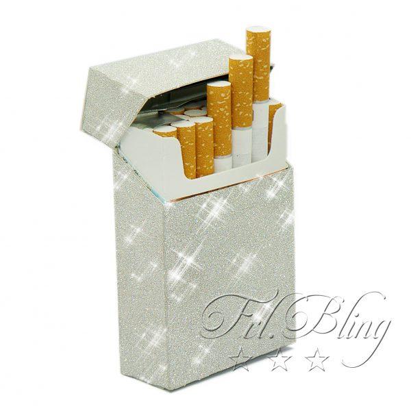 Glitzernde Hülle für Zigarettenschachtel / Zigarettenbox / Box für Zigarettenschachtel