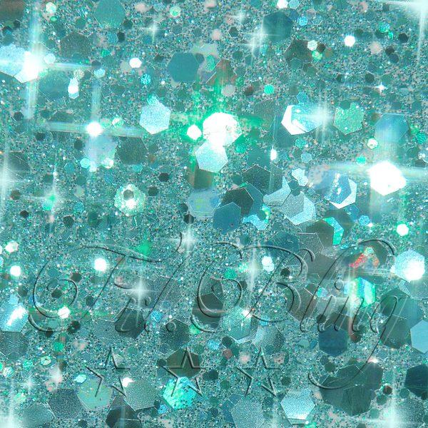 CHUNKY Glitter TÜRKIS, chunky glitter, glitzer Festival, Party, Einhorn, Prinzessin, Kinderschminken, kosmetischer Glitzer,
