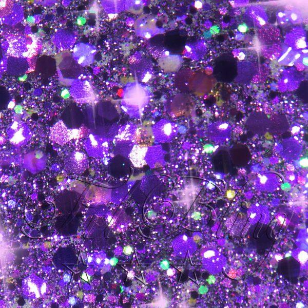 CHUNKY Glitter DARK PURPLE, 211, chunky glitter, glitzer Festival, Party, Einhorn, Prinzessin, Kinderschminken, kosmetischer Glitzer,