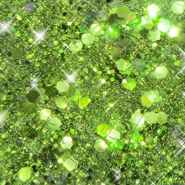 CHUNKY Glitter GREEN, glitter, glitzer Festival, Party, Einhorn, Prinzessin, Kinderschminken, kosmetischer Glitzer,