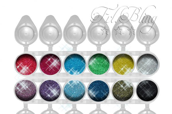 Bio Bling / Bio Glitzer SET M, bio glitter, bio glitzer, glitzer kompostierbar, kosmetisch, vegan, abbaubarer glitzer