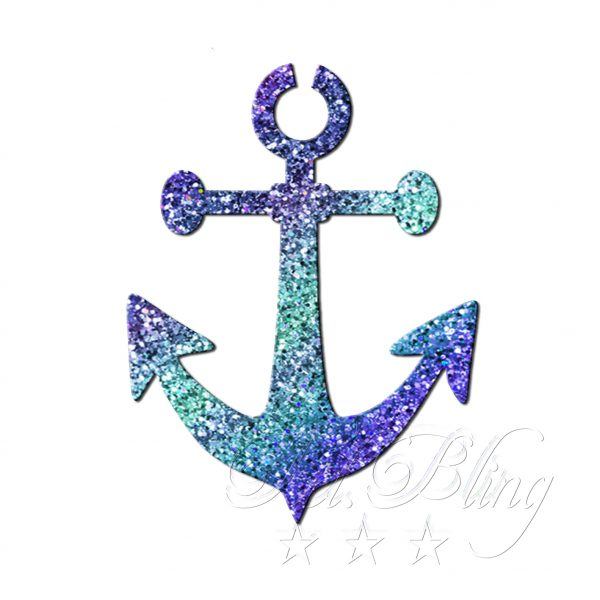 Glitzertattoo Schablonen Anker 4 cm, Anker, maritim, seefahrt, glitter tattoo anker, frl. bling, fräulein bling, schiff, meer, vertrauen, kraft,