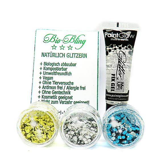 Taschenset FESTIVAL BIO Glitter ,BIO Taschenset blau 2