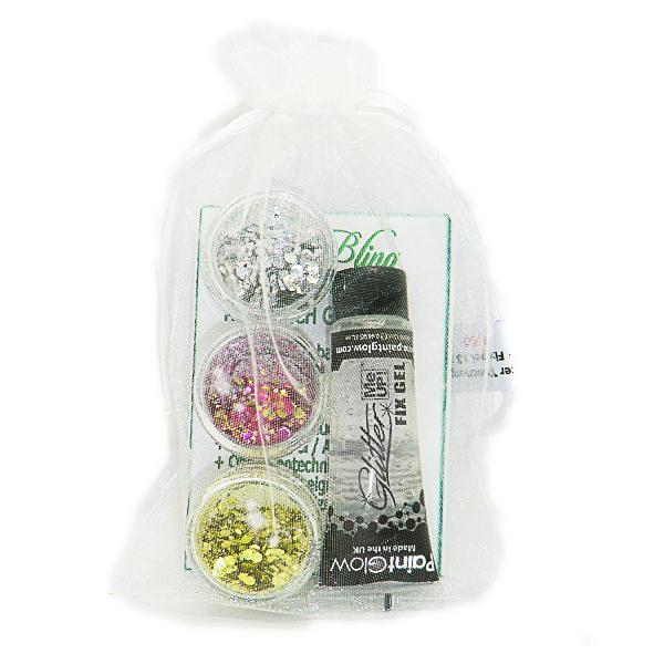 Taschenset FESTIVAL BIO Glitter ,BIO Taschenset pink