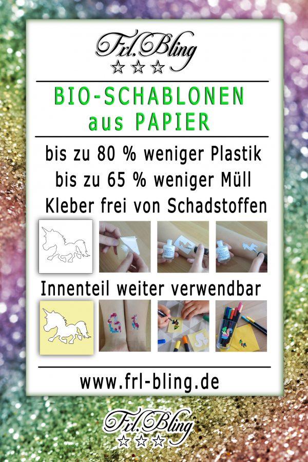 Bio Papier Schablone Glitzertattoo, Papierschablone