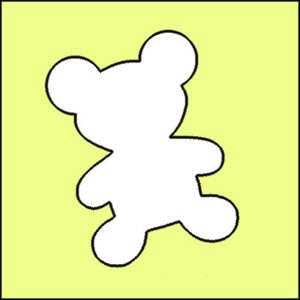 Papierschablone BIO Glitzertattoo TEDDY