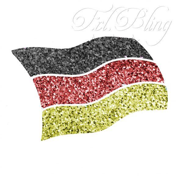 Glitzertattoos Schablonen FAHNE FLAGGE, Fußball, Weltmeister, Europameister, Deutschland