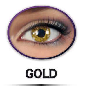 Kontaktlinsen Glittereffekt GOLD