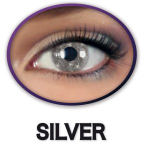 Kontaktlinsen Glittereffekt SILBER