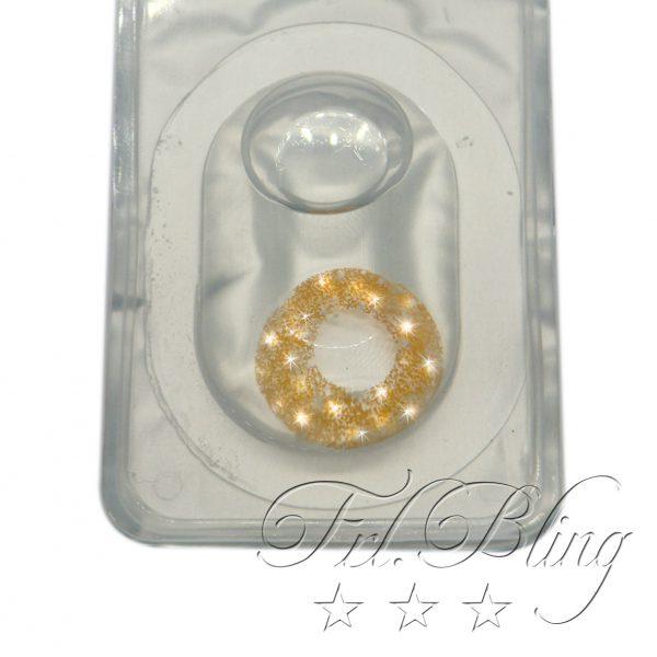 Kontaktlinse Glittereffekt GOLD