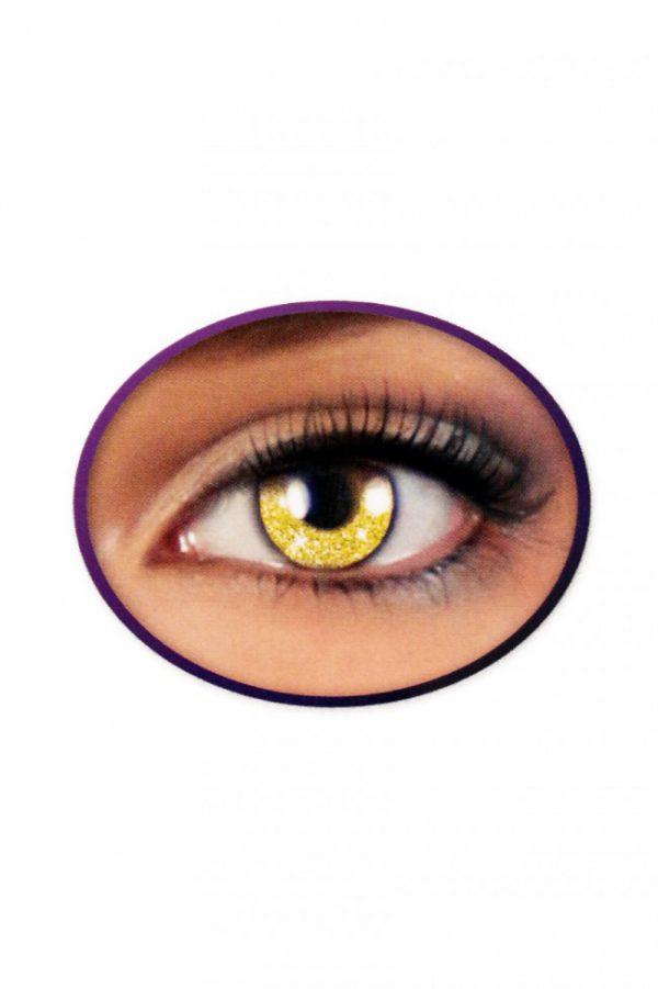 Kontaktlinsen Glittereffekt GOLD, Kontaktlinse Glittereffekt GOLD