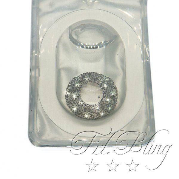 Kontaktlinse Glittereffekt SILBER, Funlinse