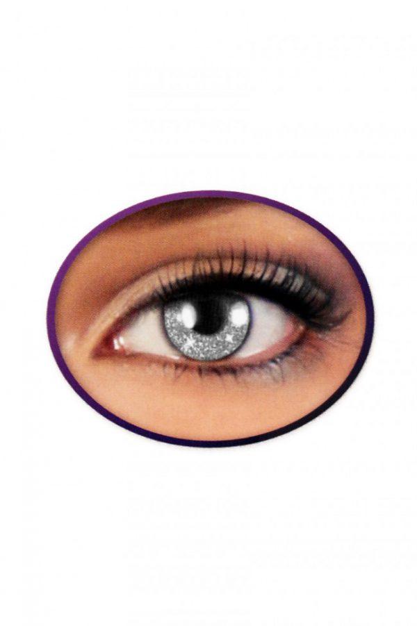 Kontaktlinsen Glittereffekt SILBER,Kontaktlinse Glittereffekt SILBER