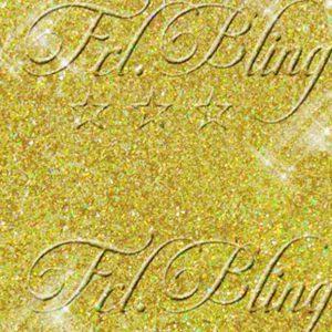 Glitzer gold holografisch 02K