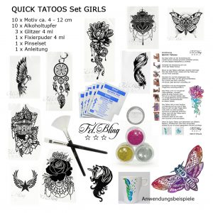 Quick Tattoo SET GIRLS