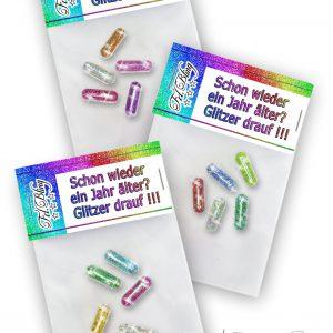 Glitzerpillen SCHON WIEDER EIN JAHR ÄLTER Set